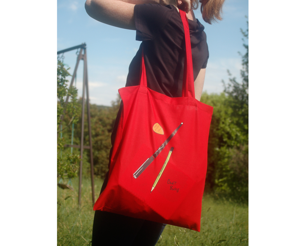 Plumes & Médiator Tote Bag Rouge