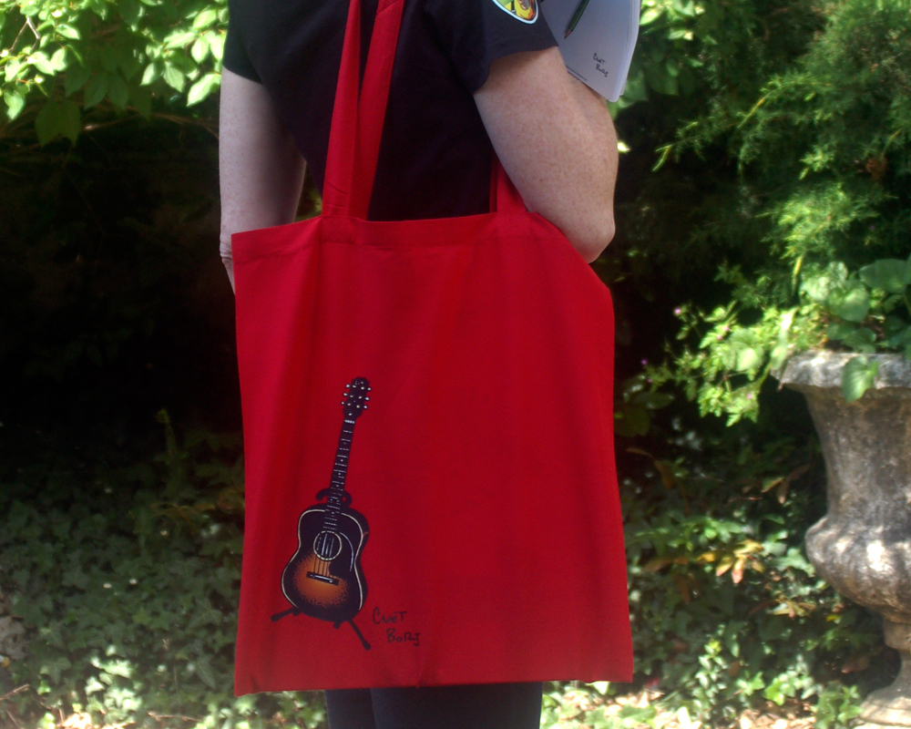 Guitare 1948 Tote Bag Rouge