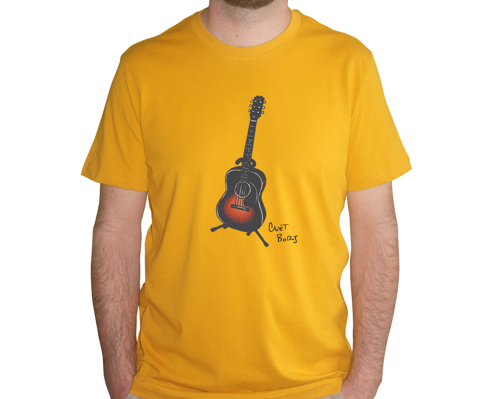 Guitare 1948 T-shirt Homme Indian Yellow