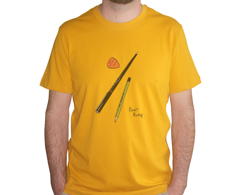 Plumes & Médiator T-shirt Homme Indian Yellow
