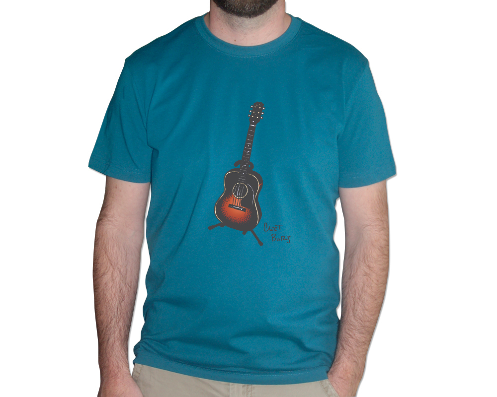 Guitare 1948 T-shirt Homme Pacific Blue